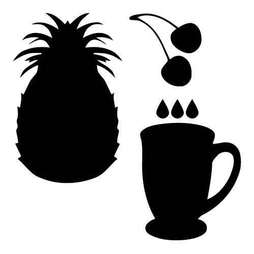 Cherry Pineapple Juice Clip Art